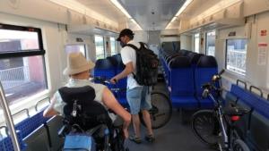 Mit Räder und Rollstuhl in der S Bahn nach Nürnberg