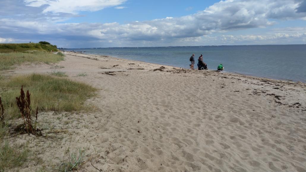Blick auf das Meer am Flovt Strand